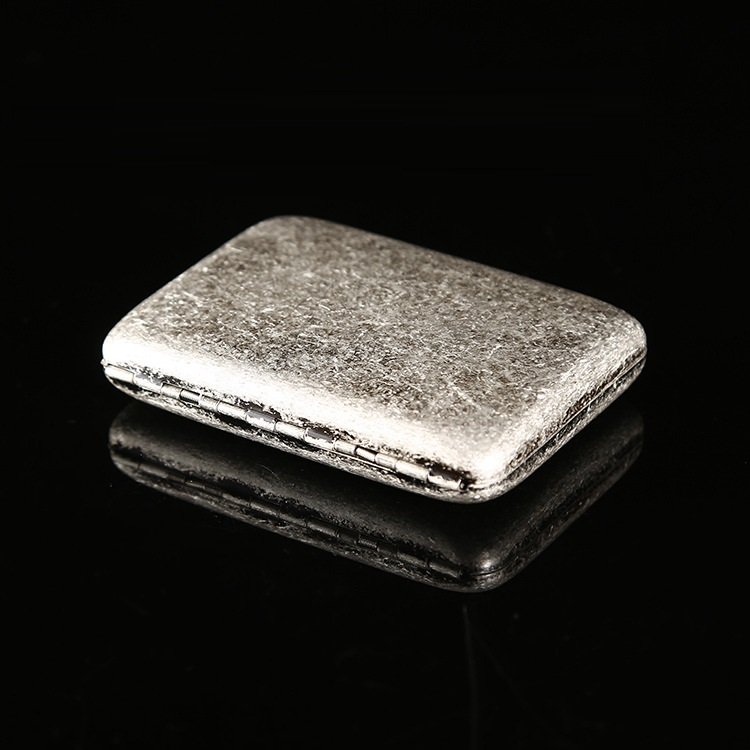 Antique Silver Metal Cigarette Case