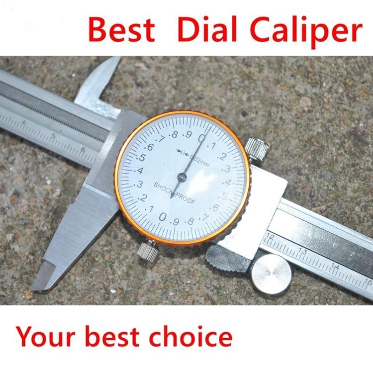 цена на 2016 Best  0-150mm/0.02 Dial Caliper Shock-proof Metal Vernier Caliper Metric Micrometer Gauge Measuring Tool