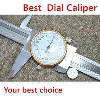2016 Best 0 150mm 0 02 Dial Caliper Shock Proof Metal Vernier Caliper Metric Micrometer Gauge