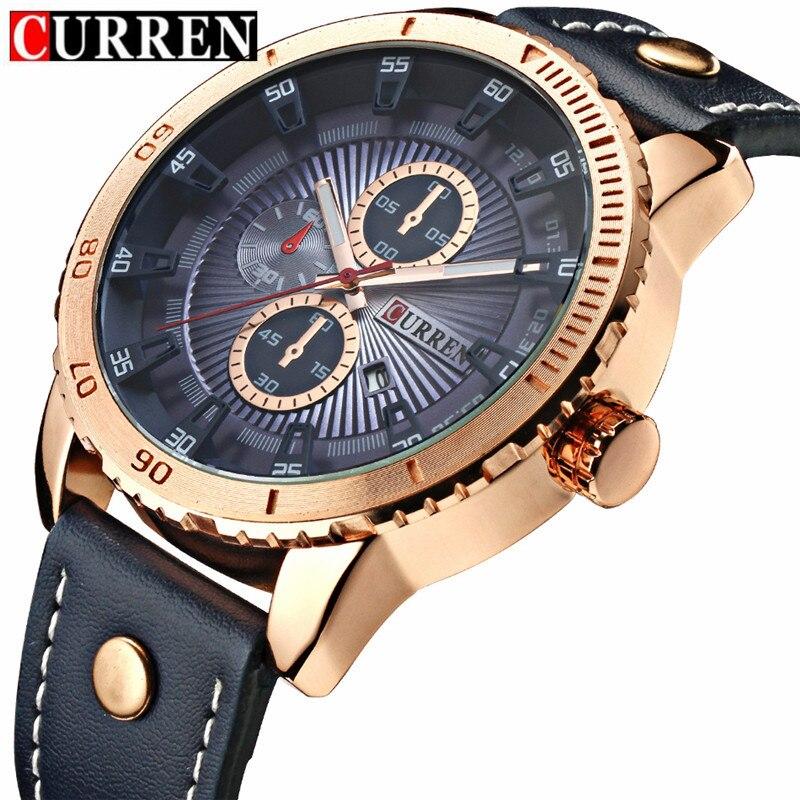 Curren Men's Sports Quartz Watches Analog Date Men Go &