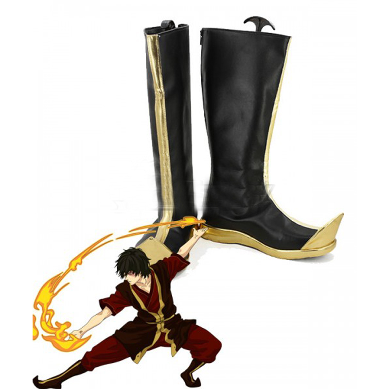Avatar: The Last Airbender Zuko Black Cosplay Shoes Boots Halloween Carnival Party Cosplay Costume Accessories