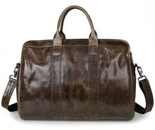 JMD 2016 New Arrival 100% Leather Briefcases Men's  Cow Leather Messenger Shoulder Bag Handbags Travel Bags 7324
