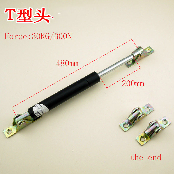 Free shipping  480mm central distance, 200 mm stroke, pneumatic Auto Gas Spring, Lift Prop Gas Spring Damper free shipping 60kg 600n force 280mm central distance 80 mm stroke pneumatic auto gas spring lift prop gas spring damper