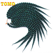 "TOMO 12"" 18"" 12Strands/Pack Crochet Braids Senegalese Twist Hair 18 Colors Ombre Kanekalon Synthetic Braiding Hair 1Pack(China)"