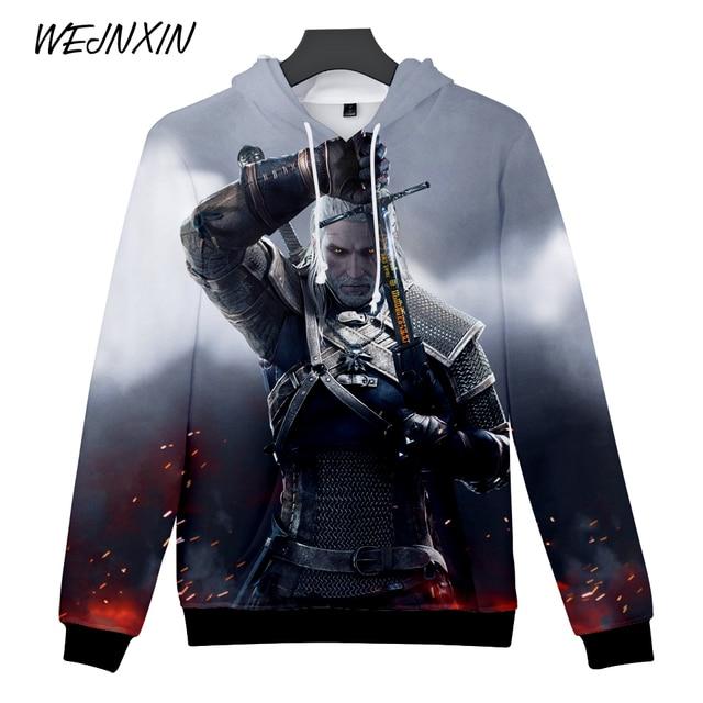 8a6edadd593 WEJNXIN Game The Witcher 3 Hoodies 3D Geralt Of Rivia Sweatshirt For Men  Women Pullover Hip Hop Fleece Tracksuits Moletom