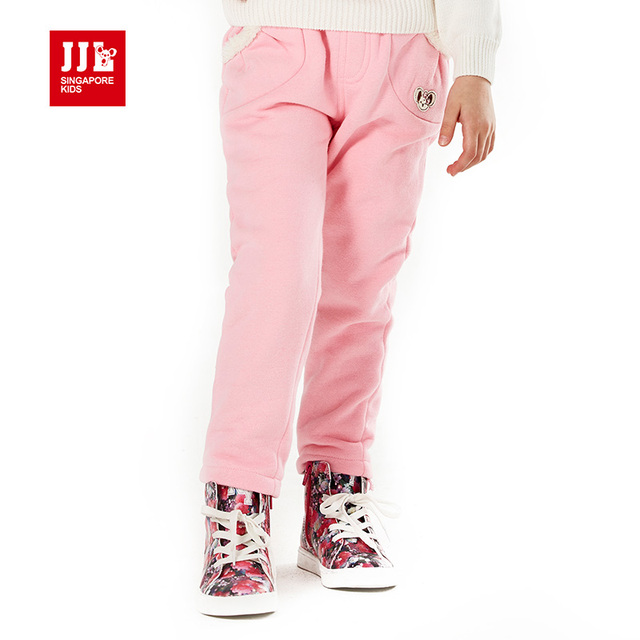 Girls Winter Pants Children Trousers Child Pants Sweet Fur Lining