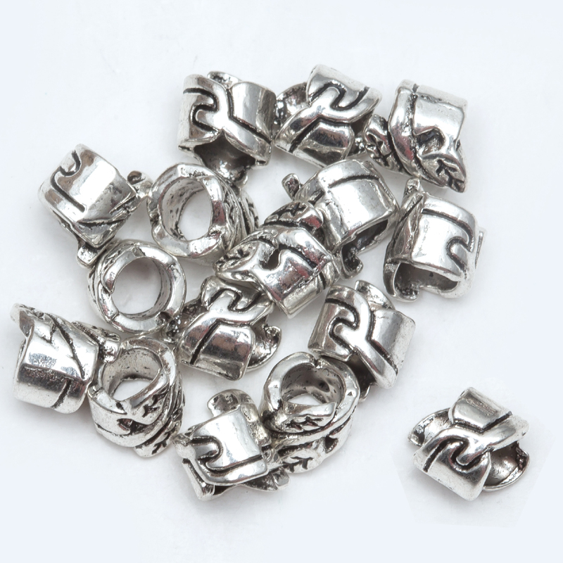 Beads 50/lot Metal Vintage Zinc Alloy Tube Bead Tibetan Silver Spacer Beads For Bracelet Jewelry Making H0449