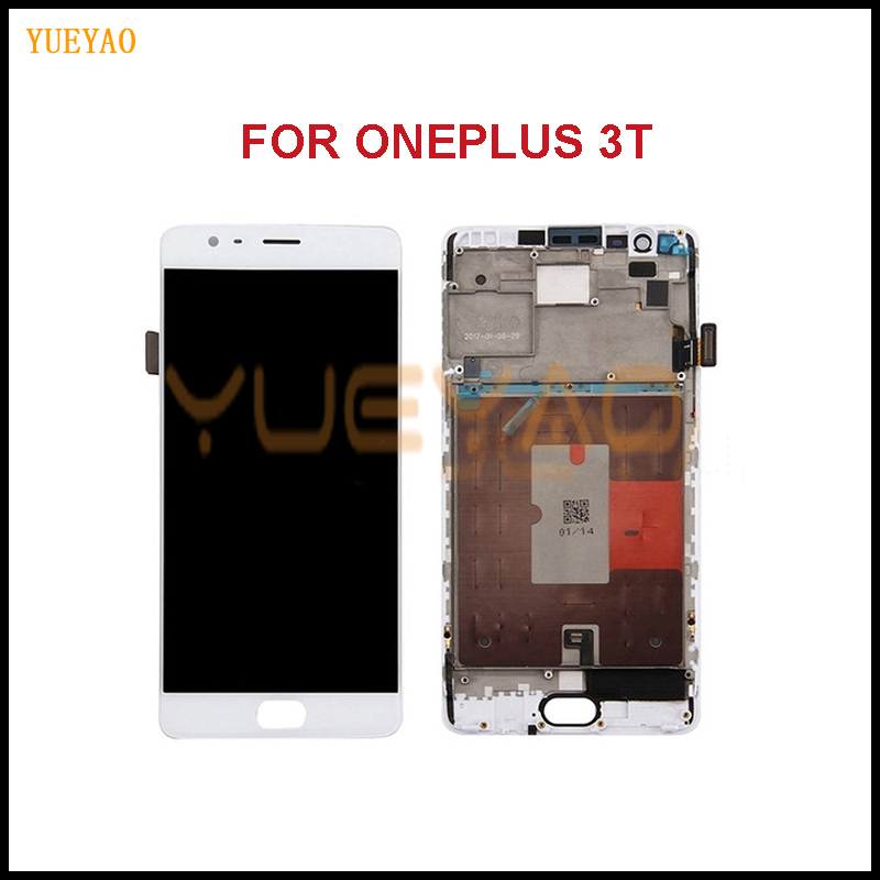 YUEYAO For Oneplus A3010 3T LCD Display Touch Screen Digitizer Assembly For 5.5OnePlus 3T LCD With Frame Replacement PartYUEYAO For Oneplus A3010 3T LCD Display Touch Screen Digitizer Assembly For 5.5OnePlus 3T LCD With Frame Replacement Part