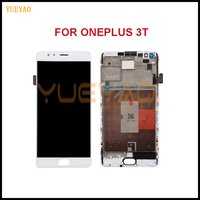YUEYAO For Oneplus A3010 3T LCD Display Touch Screen Digitizer Assembly For 5.5OnePlus 3T LCD With Frame Replacement Part