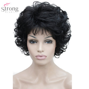 Image 3 - StrongBeauty Women Synthetic Wig Capless Short Curly Hair Blonde/ Black Natural Wigs