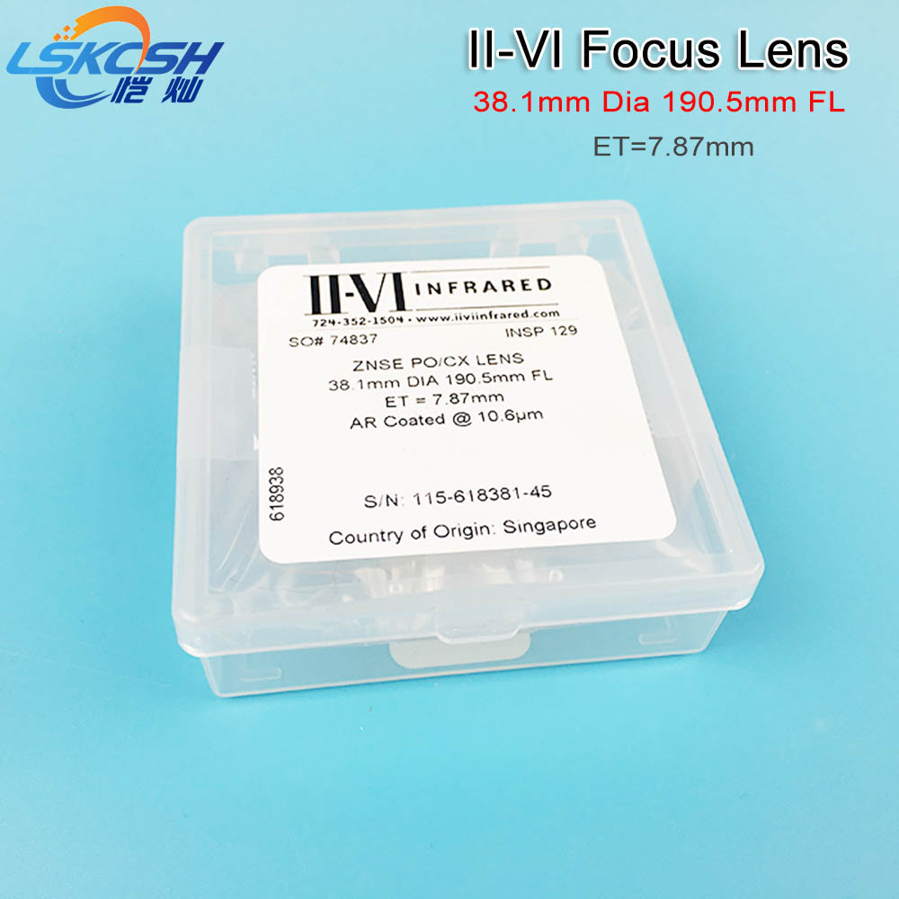 II-VI CVD ZnSe Focus Lens Dia. 38.1mm FL 127 190.5mm 5 7.5 for HAN'S Trumpf Bystronics CO2 Laser Cutting Machine OEM Support cloudray ii vi znse focal meniscus lens laser engraving cutting machine optical lens dia 20mm fl 50 8mm 263 5mm 2 5101 6mm 4