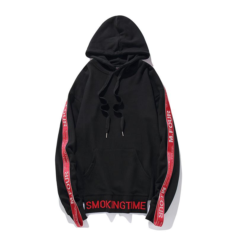 Ribbon Sleeve Hoodies 5
