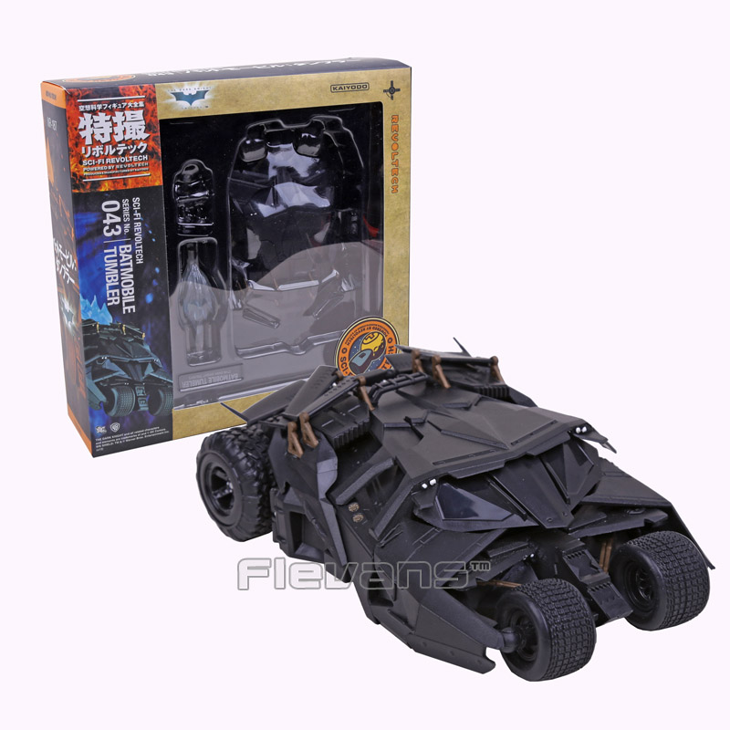 SCI-FI Revoltech Series NO.043 Batman Batmobile Tumbler PVC Action Figure Collectible Model Toy neca marvel legends venom pvc action figure collectible model toy 7 18cm kt3137