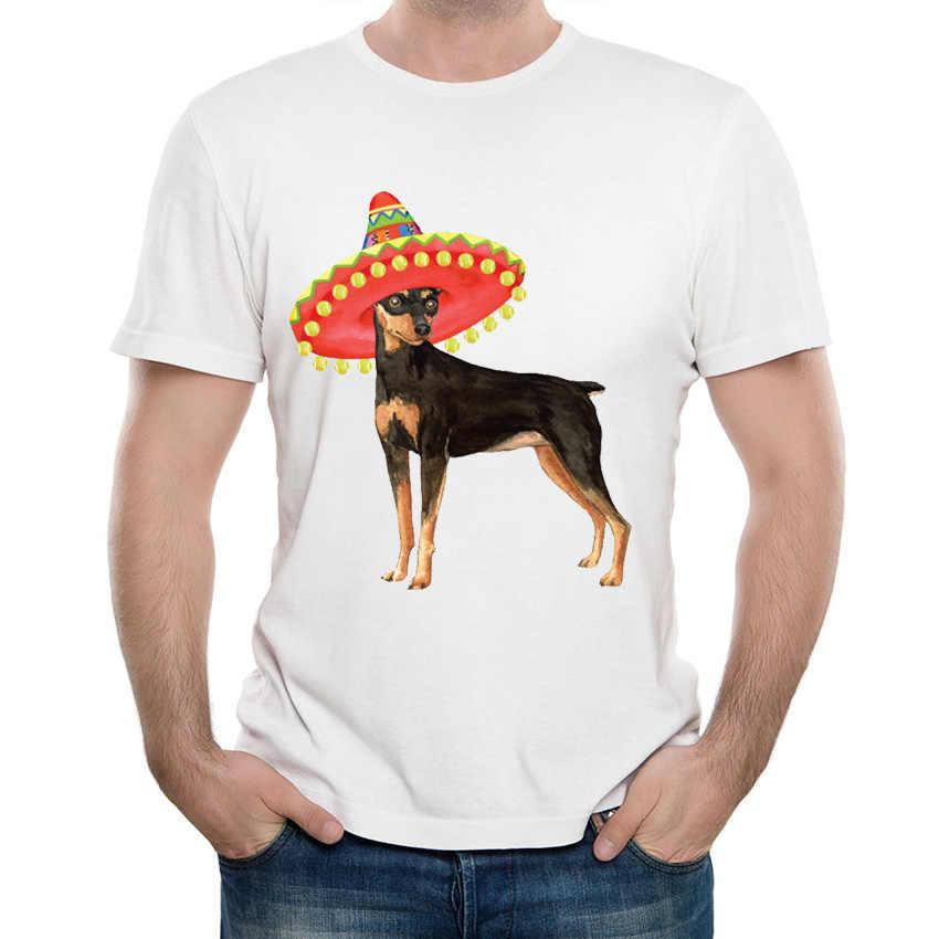 Baru Harajuku Fiesta Min Pin T-Shirt Pria t-shirt lucu Miniatur pinscher desain T Shirt musim panas pria kasual Tops boy keren Tee