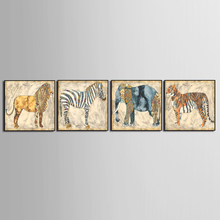 Factory wholesale Classic abstract animal HD Print Frame Poster 5 Pieces  Painting Wall Art Living Room Home Decor (No Framed)