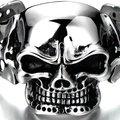 Men's Stylish Popular Jewelry Stainless Steel Silvery Polished Special Skeleton Shape Retro Bangle Bracelet Size:Customized