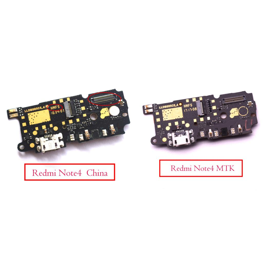 Original HMFS For Xiaomi RedMi Note 4 MTK Helio X20 Version Micro USB Charging Charger Board With Microphone