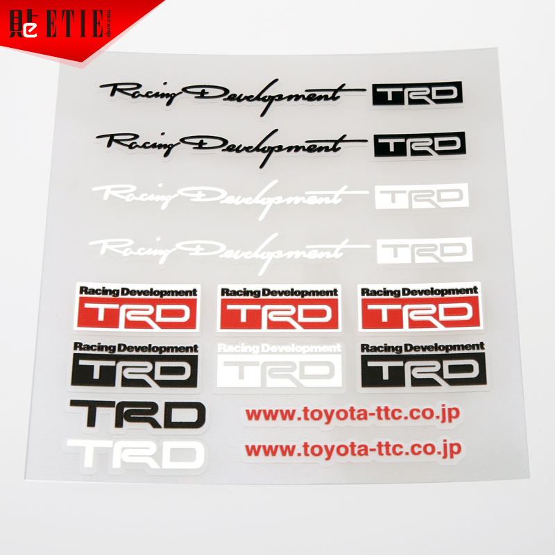 Motorcycle Sticker Design Toyota Racing Development Motor Sports Logo Transpa Vinyl Trd For Whole Car Body In Decals Stickers From