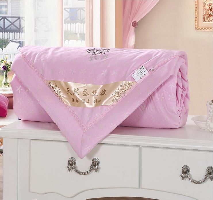 Textiles para el hogar juego de cama de verano estilo edredón de seda natural la