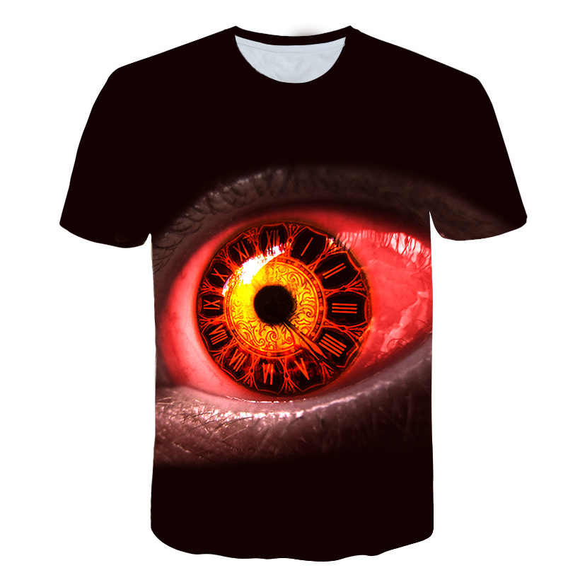 2019 новый продукт Запуск Psychedelic глаз футболка Trippy узор приводит к всевидящим глаз яркий дизайн женщин мужчин тройники