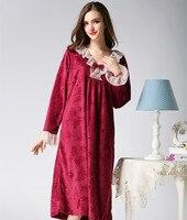 Winter Nightgown Plus Size Nightshirt Nighties For Women Dress Night 1500