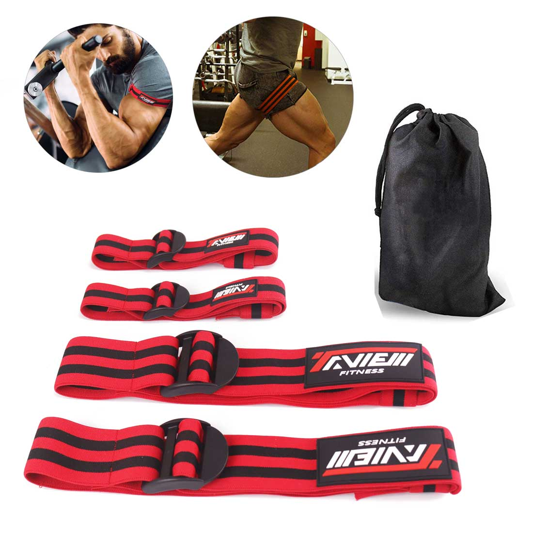 Fitness Occlusion Training Bands Bodybuilding Weight Blood Flow Restriction Bands Arm Leg Wraps Fast Muscle Growth Gym Equipment