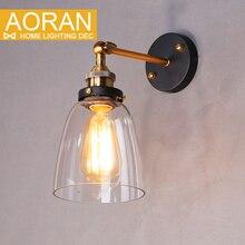 Старинные настенные светильники стекло бра 110 В 220 В спальня настенный светильник для столовой, гостиной