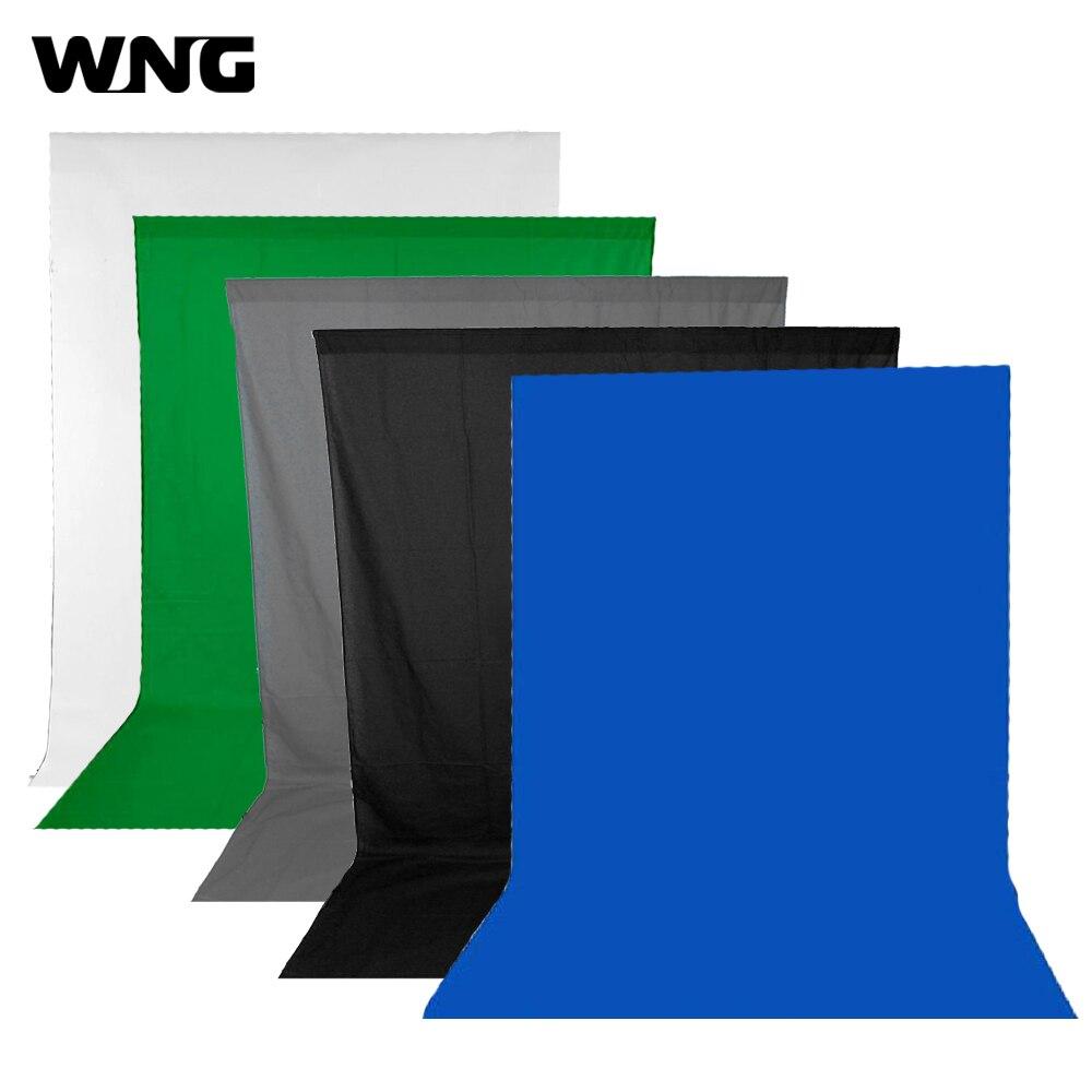 Photography Backdrop 300 400CM Video Photo Photography Lighting Studio Muslin Background Black White Grey Green Blue