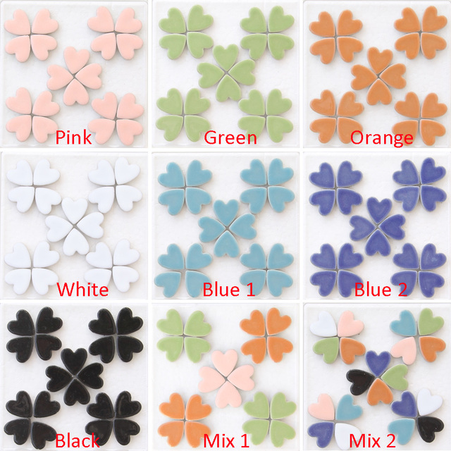 200g Heart shaped Mosaic Tiles