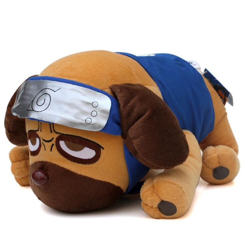 40cm Japanese Anime Cartoon Naruto Kakashi Pakkun Dog Plush Toys Doll Soft Stuffed Animals Toys For Kids Children Christmas Gift
