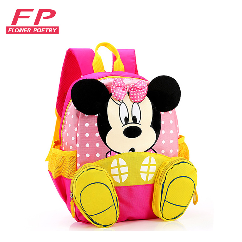 2016 Hot Cartoon mickey Children School Bags for Girls Backpacks kids kindergarten Backpack Satchel For Boys