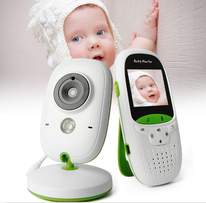 Baby Monitor Wireless Video 2.0 Inch Nanny Camera 2 Way Talk Night Vision IR LED Temperature Monitor Infant Baby Sleep Cam VB602