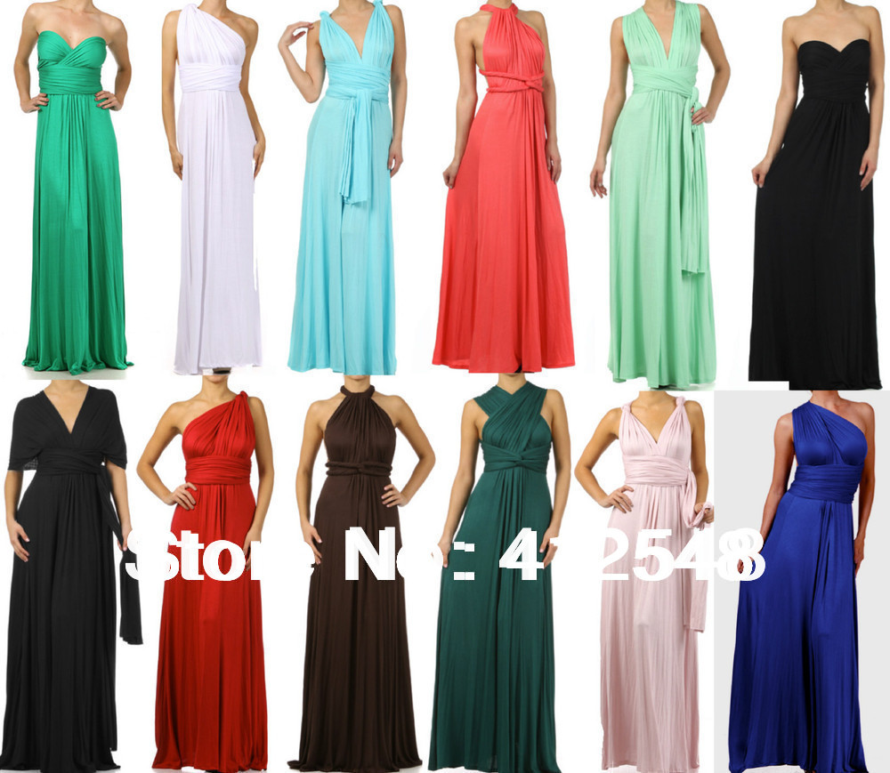 New design INFINITY wrap Multi Way convertible maxi dress ...