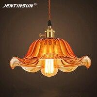 Colored Retro Loft Pendant Light Vintage Glass Transparent Indoor Lighting LED E27 Hanging Lights For Bar
