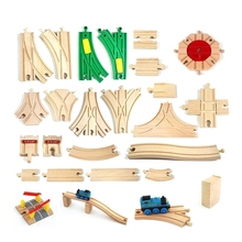 Wooden Thomas Track Wooden Railway Accessories Train Track set Work with Thomas and Friends Tracks All Major Brands of Trains
