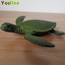 Bronze marine animal sea turtle child solid simulation life model toy small size home interior decoration