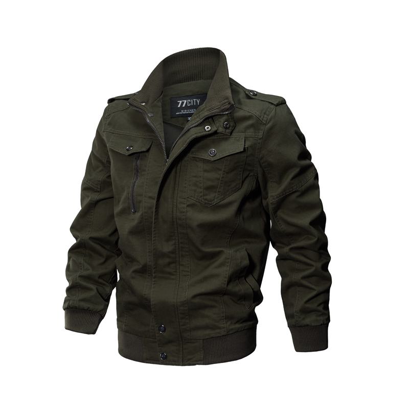 2018 Plus Size Military Jacket Men Spring Autumn Cotton Pilot Jacket Coat Army Men's Bomber Jackets Cargo Flight Jacket Male 6XL 27