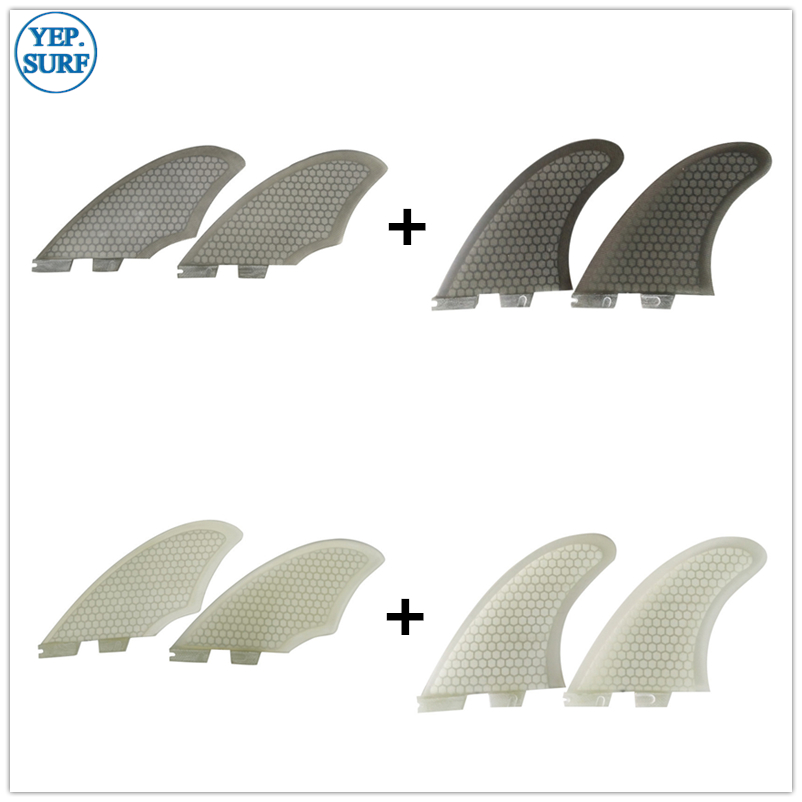 Surfboard FCS2 Fins TWIN FIN+Keel Fin  FCS2 Fin Set Sell Surf White Color Black Color