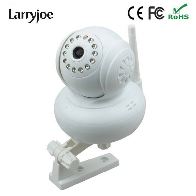 Larryjoe 720P HD TF SD Card IR Cut Indoor White Security IP Internet Camera Dual Audio