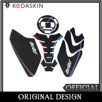 KODASKIN 3D Real Carbon Gas Fuel Tank Cap Cover Motorcycle Protection Sticker Accessories for BMW S1000RR HP4
