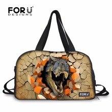 FORUDESIGNS Funny 3D Dinosaur Roar Design Tote Sport Ball Shoulder Bags for Men Outdoor Waterproof 28L Travel Bag for Gym