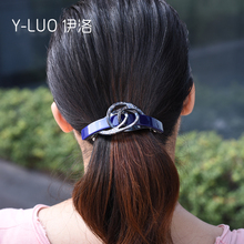 Women hair headwear large cute clip ponytail holder barrette rhinestone accessories for women
