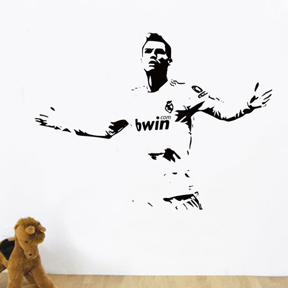 Free Shipping Diy Sports Footballer Wall Stickers Kids Boys Lionel Cristiano Ronaldo After Scoring Of Cheering Room Wall Decor Football Wall Stickers Wall Stickerwall Sticker Kids Aliexpress