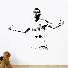 Free shipping DIY Sports footballer wall stickers kids boys Lionel Cristiano Ronaldo after scoring of cheering room decor
