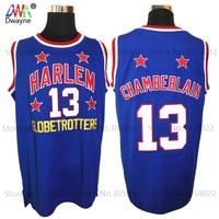 Mens 13 Wilt Chamberlain Harlem Globetrotters Cheap Throwback Basketball Jersey Retro Jerseys Vintage Basket Embroidery Shirt