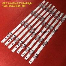 """100% NEW 8 PCS(4*A,4*B) LED strip for LG INNOTEK DRT 3.0 42"""" A/B Type 6916L 1709B 1710B 1957E 1956E 6916L 1956A 6916L 1957A"""