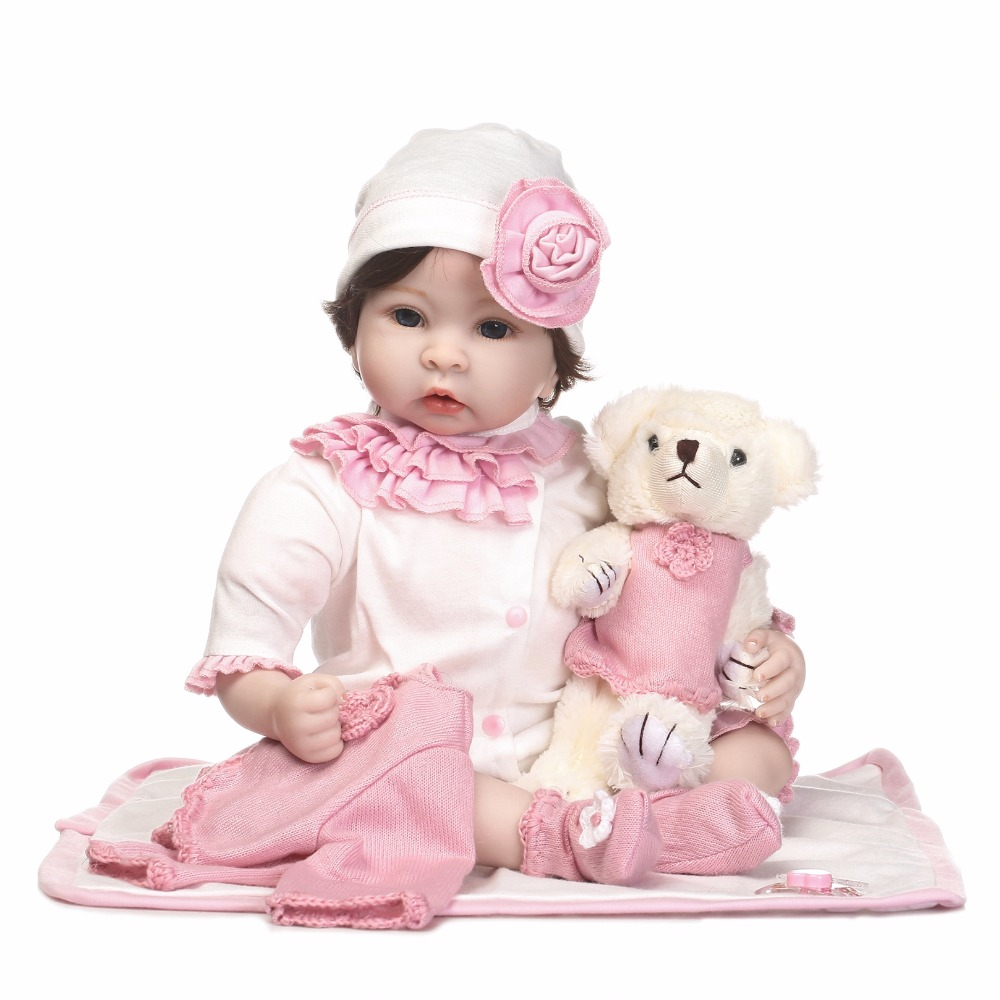 NPKCOLLECTION Handmade new reborn baby doll with soft PP cotton soft real gentle body touch Gift for girls on Christmas npkcollection full vinly reborn baby girl doll soft real gentle touch new design hair style gift for children birthday