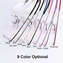 5018 Beta-Ti Designer Brand Style Flexible Memory Metal Rimless Eyeglasses Frame for oculos de grau Glasses Optical Frame