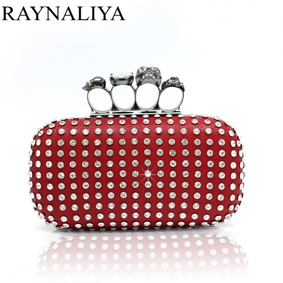 New Women Clutch Knuckle Rings Evening Bag Ladies Party Wedding Bride Fashion Wallet Day Clutch Makeup Bags SMYSFX-F0022 стоимость