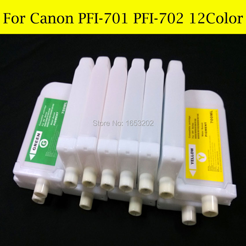 700ML For Canon PFI-701 PFI-702 Refill ink Cartridge For iPF8100,iPF9100,iPF8110,iPF9110 Printer Without Chip кольцо коюз топаз кольцо л22101073